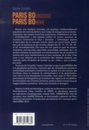 Paris bourgeoise, Paris bohème ; la ruée vers l'est - 4ème de couverture - Format classique
