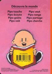 Pipo Touche - 4ème de couverture - Format classique