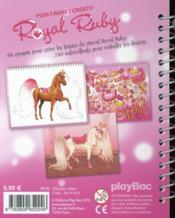 Mon carnet créatif Royal Ruby ; cheval style - 4ème de couverture - Format classique