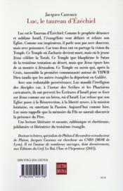 Luc, le taureau d'ezechiel - 4ème de couverture - Format classique
