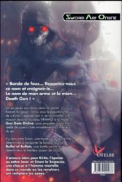 Sword Art Online T.3 ; phantom bullet - 4ème de couverture - Format classique