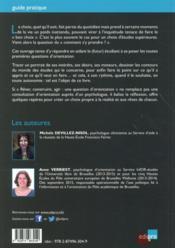 Choisir ses études supérieures en Belgique francophone - 4ème de couverture - Format classique
