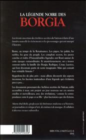 La légende noire des Borgia - 4ème de couverture - Format classique