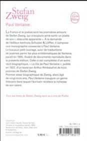 Paul Verlaine - 4ème de couverture - Format classique
