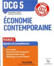 DCG 5 ; économie contemporaine ; manuel ; réforme expertise comptable (édition 2019/2020) - Couverture - Format classique
