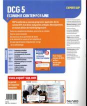 DCG 5 ; économie contemporaine ; manuel ; réforme expertise comptable (édition 2019/2020) - 4ème de couverture - Format classique