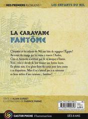 Les enfants du Nil T.12 ; la caravane fantôme - 4ème de couverture - Format classique