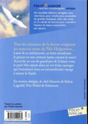 Le merveilleux voyage de Nils Holgersson à travers la Suède - 4ème de couverture - Format classique
