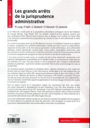 Les grands arrêts de la jurisprudence administrative (22e édition) - 4ème de couverture - Format classique