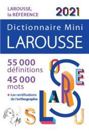 Dictionnaire Larousse mini (édition 2021) - Couverture - Format classique