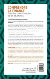 Comprendre la finance ; pour les non-financiers et les étudiants (3e édition) - 4ème de couverture - Format classique