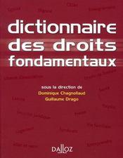 Dictionnaire des droits fondamentaux - Intérieur - Format classique