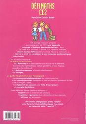 CE2 ; t.1 ; fiches à photocopier - 4ème de couverture - Format classique