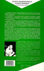 Justice Traditionnelle, Justice Moderne ; Le Devin, Le Juge, Le Sorcier - 4ème de couverture - Format classique