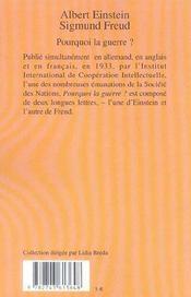 Pourquoi La Guerre ? - Rp N 488 - 4ème de couverture - Format classique