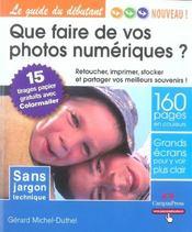 Que faire de vos photos numeriques ? - Intérieur - Format classique