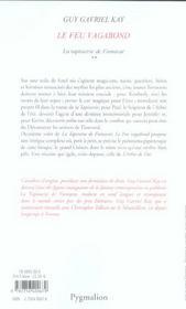 Tap. De Fionavar T2-Le Feu Vagabond Ne - 4ème de couverture - Format classique