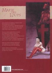 Marie des loups t.1 ; la garde rouge - 4ème de couverture - Format classique