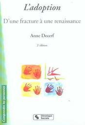 L'adoption d'une fracture a une renaissance (2e édition) - Intérieur - Format classique