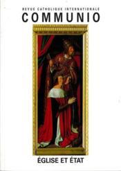 REVUE COMMUNIO N.165 ; Eglise et Etat - Couverture - Format classique