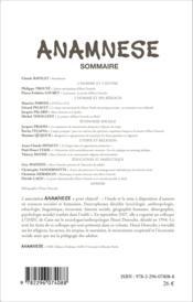 Anamnese N.4 ; Henri Desroche - Couverture - Format classique