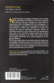 Âmes noires - 4ème de couverture - Format classique