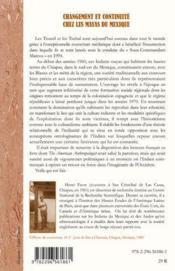 Changement et continuité chez les Mayas du Mexique ; contribution à l'étude de la situation coloniale - 4ème de couverture - Format classique
