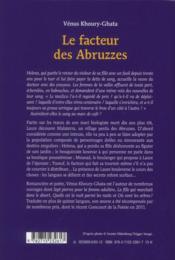 Le facteur des Abruzzes - 4ème de couverture - Format classique