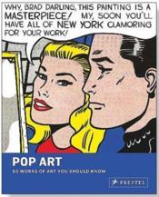 Pop art 50 works of art you should know - Couverture - Format classique