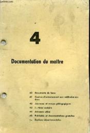 Cours Techniques Autos N°4 - Documentation Du Maitre - Couverture - Format classique