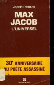 MAX JACOB. L'UNIVERSEL. 30e ANNIVERSAIRE DU POETE ASSASSINE. - Couverture - Format classique