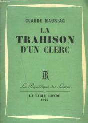 La Trahison D'Un Clerc - Couverture - Format classique