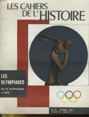Les Cahiers De L'Histoire N°78 - Les Olympiades De La Mythologie A 1912 - Couverture - Format classique