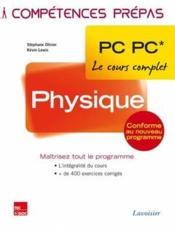 COMPETENCES PREPAS ; physique ; 2e année PC PC - Couverture - Format classique