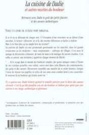 La Cuisine De Dadie Et Autres Recettes Du Bonheur - 4ème de couverture - Format classique