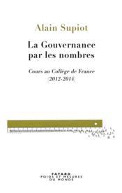 La gouvernance par les nombres - Couverture - Format classique
