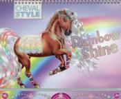 Je dessine mon cheval Rainbow Shine - Couverture - Format classique