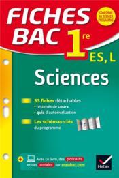 FICHES BAC T.23 ; sciences ; 1ère ES, L - Couverture - Format classique