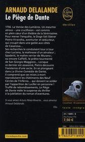 Le piège de Dante - 4ème de couverture - Format classique
