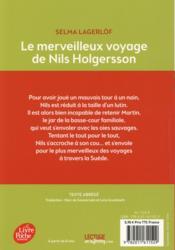Le merveilleux voyage de Nils Holgersson - 4ème de couverture - Format classique