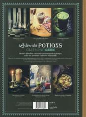 Le livre des potions par Gastronogeek - 4ème de couverture - Format classique
