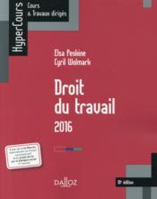Droit du travail (édition 2016) - Couverture - Format classique