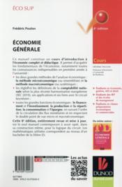 Économie générale ; cours (8e édition) - 4ème de couverture - Format classique