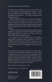 Les corps de verre ; mélancolie noire - 4ème de couverture - Format classique