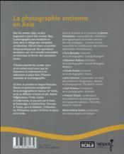 La photographie ancienne en Asie - 4ème de couverture - Format classique
