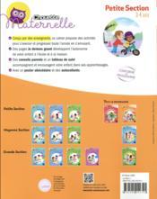 Chouette maternelle ; tout le programme ; petite section - 4ème de couverture - Format classique