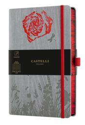 Carnet foresta grand format ligné rose - Couverture - Format classique