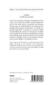 Suisen ; l'ombre du chardon - 4ème de couverture - Format classique