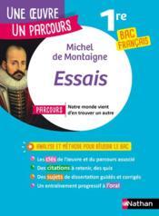 Essais ; 1re (édition 2020) - Couverture - Format classique
