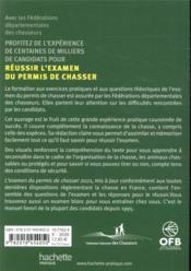 L'examen du permis de chasser ; préparation officielle aux questions théoriques ; toutes les réponses aux questions de l'examen (édition 2021) - 4ème de couverture - Format classique
